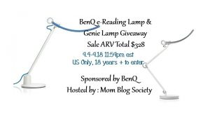 BenQ e-Reading Lamp and Genie Lamp Giveaway ARV $328