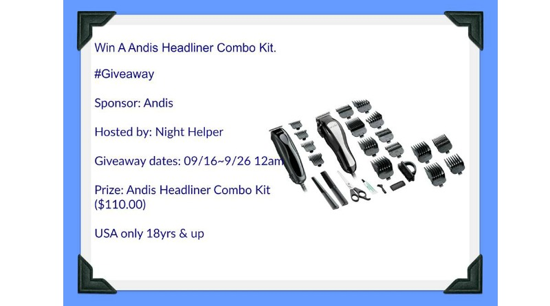 Win An Andis Headliner Combo Kit #Giveaway