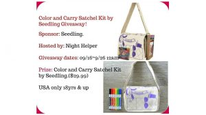 Win A Color And Carry Satchel Kit. #Giveaway