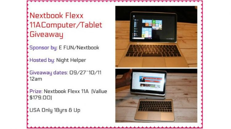 Nextbook Flexx 11A Computer/ Tablet Giveaway