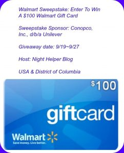 Vaseline Intensive Care Lotion Sweepstakes $100 Walmart Gift Card