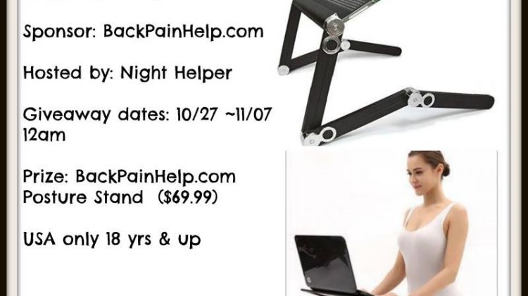 One WINNER will win a BackPainHelp.com Posture Stand
