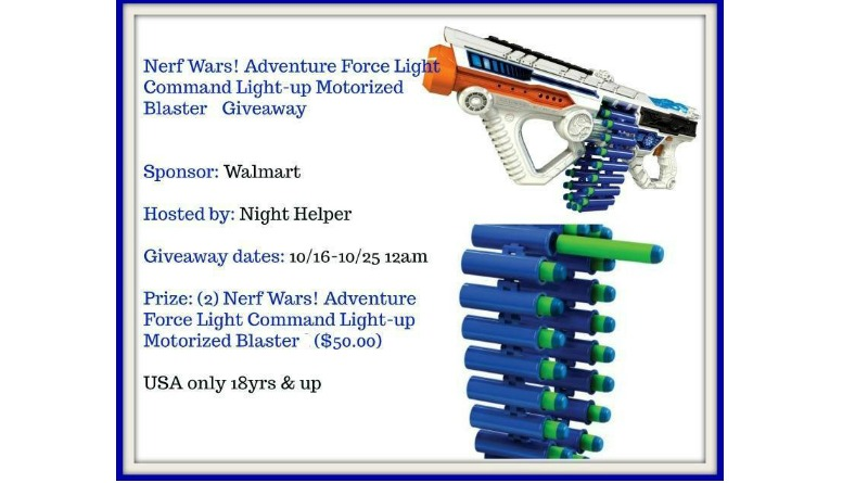Nerf Wars! Adventure Force Light Command Light-up Motorized Giveaway