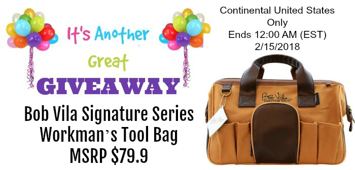 Bob Vila Signature Series Workman's Tool Bag Giveaway