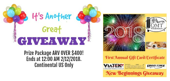 Gift Card/Certificate New Beginnings Giveaway