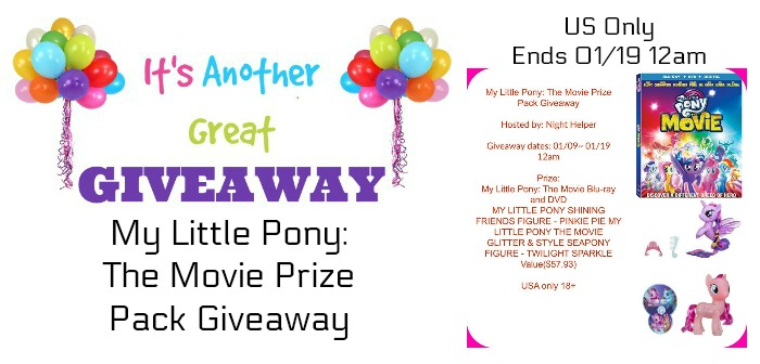 My Little Pony: The Movie Prize Pack Giveaway