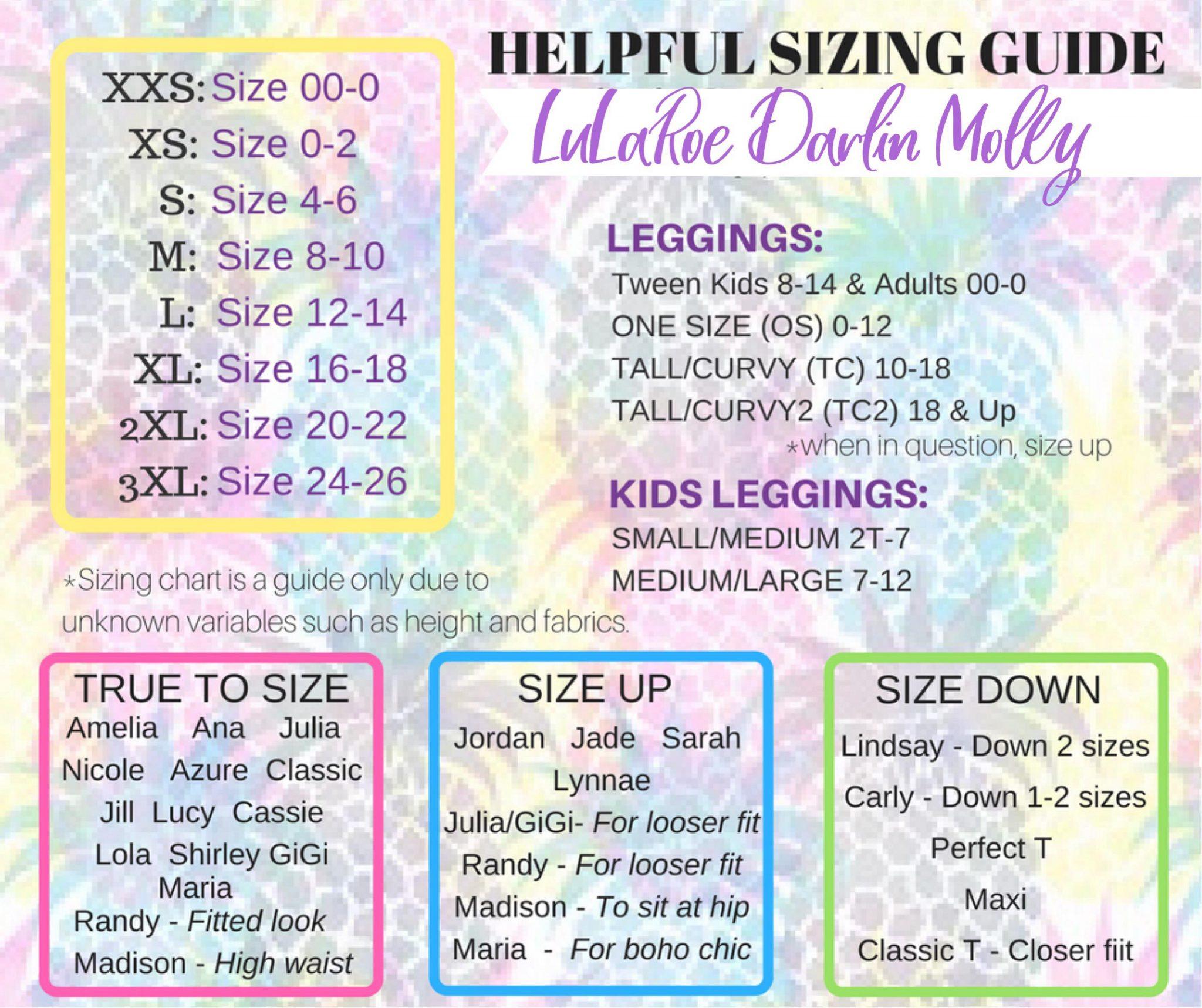 Gigi Size Chart Pflag