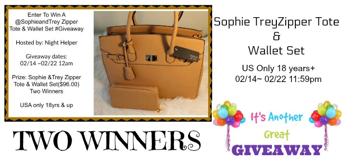 Zipper Tote & Wallet Set From Sophie &Trey Giveaway