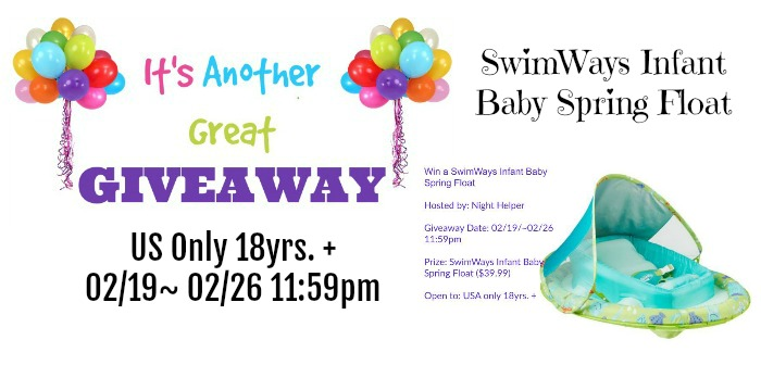 SwimWays Infant Baby Spring Float Giveaway
