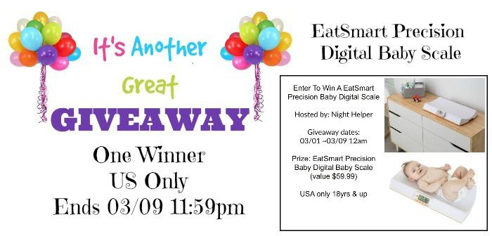 EatSmart Precision Digital Baby Scale Giveaway