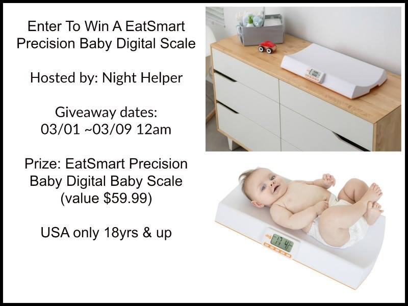 EatSmart Precision Digital Baby Scale Giveaway