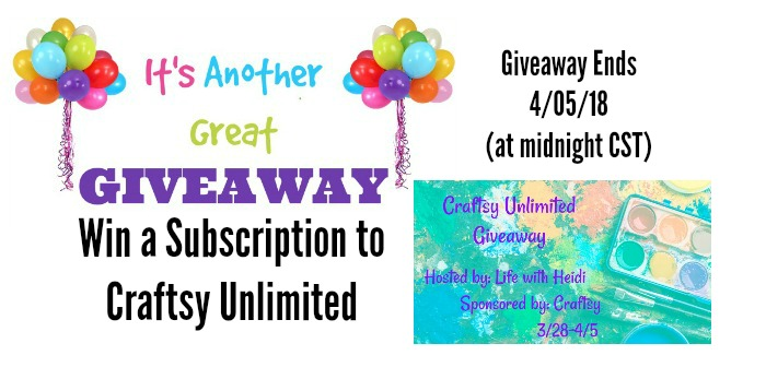 Craftsy Unlimited Giveaway