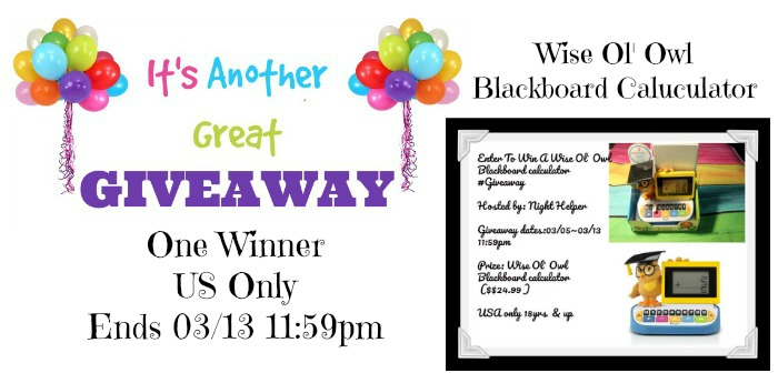 Wise Ol' Owl Blackboard Calculator Giveaway