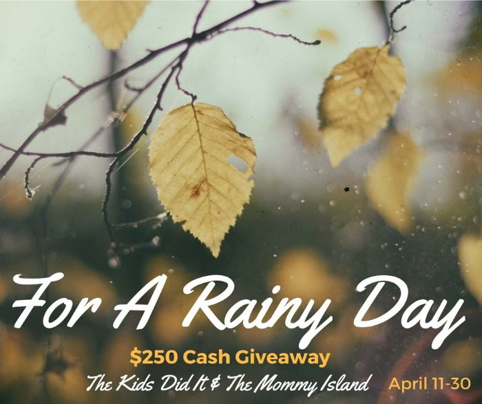For A Rainy Day April Cash Giveaway