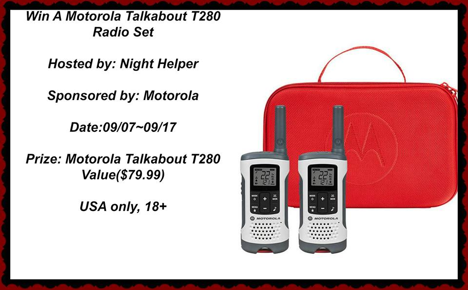 Motorola Talkabout Giveaway