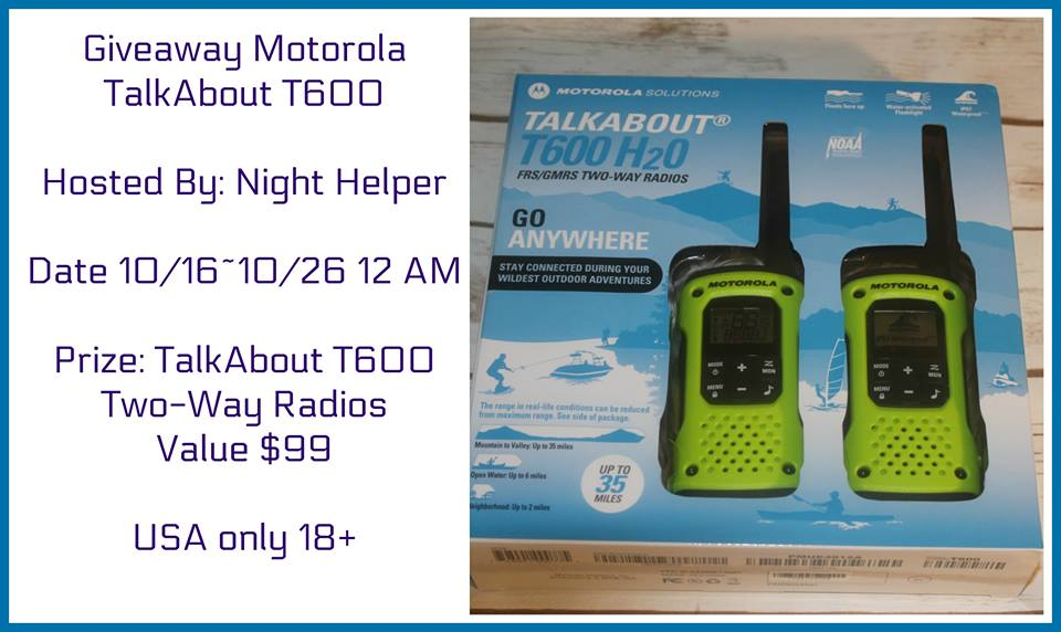 Motorola TalkAbout T600 Two-Way Radio Set Giveaway