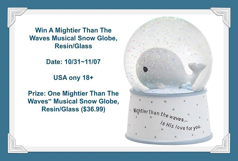 Musical Snow Globe Giveaway