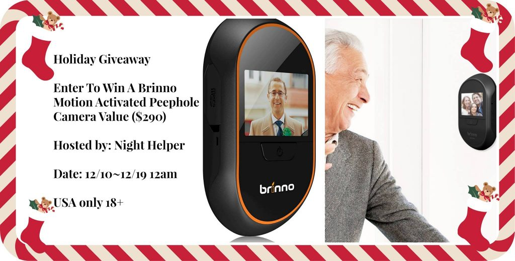 Brinno Motion Activation Peephole Camera Giveaway