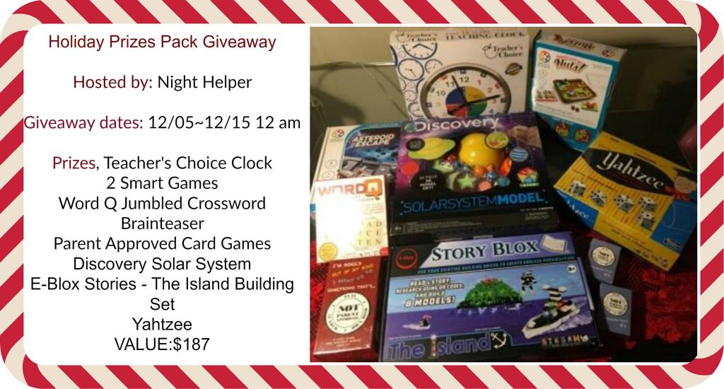 Holiday Prizes Pack Giveaway