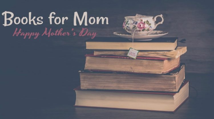2019 Books fTeacup sitting on a stack of books or Mom for Mother's Day