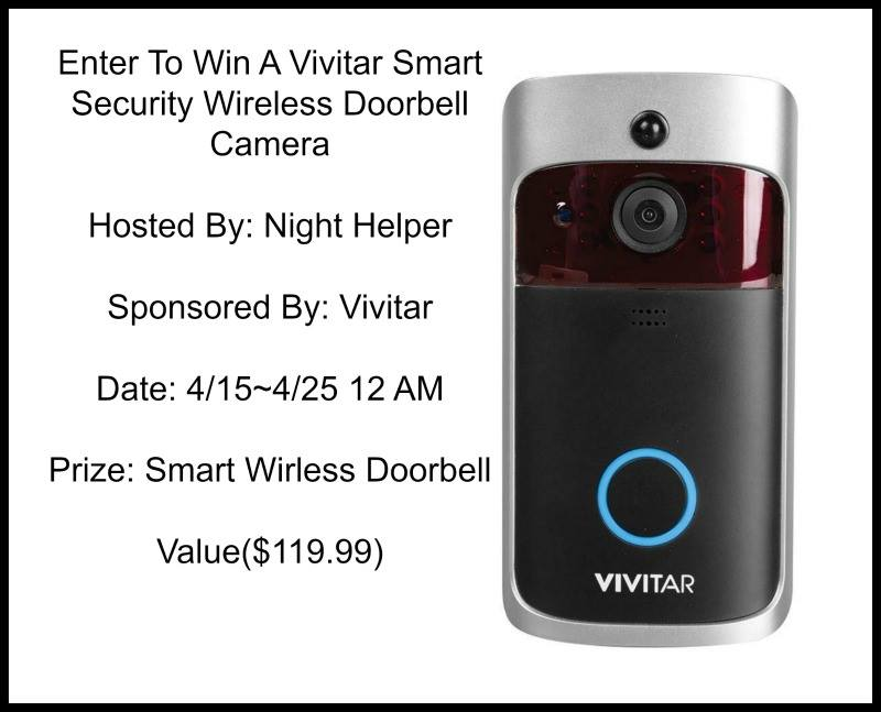 Vivitar Wireless Doorbell Camera Giveaway