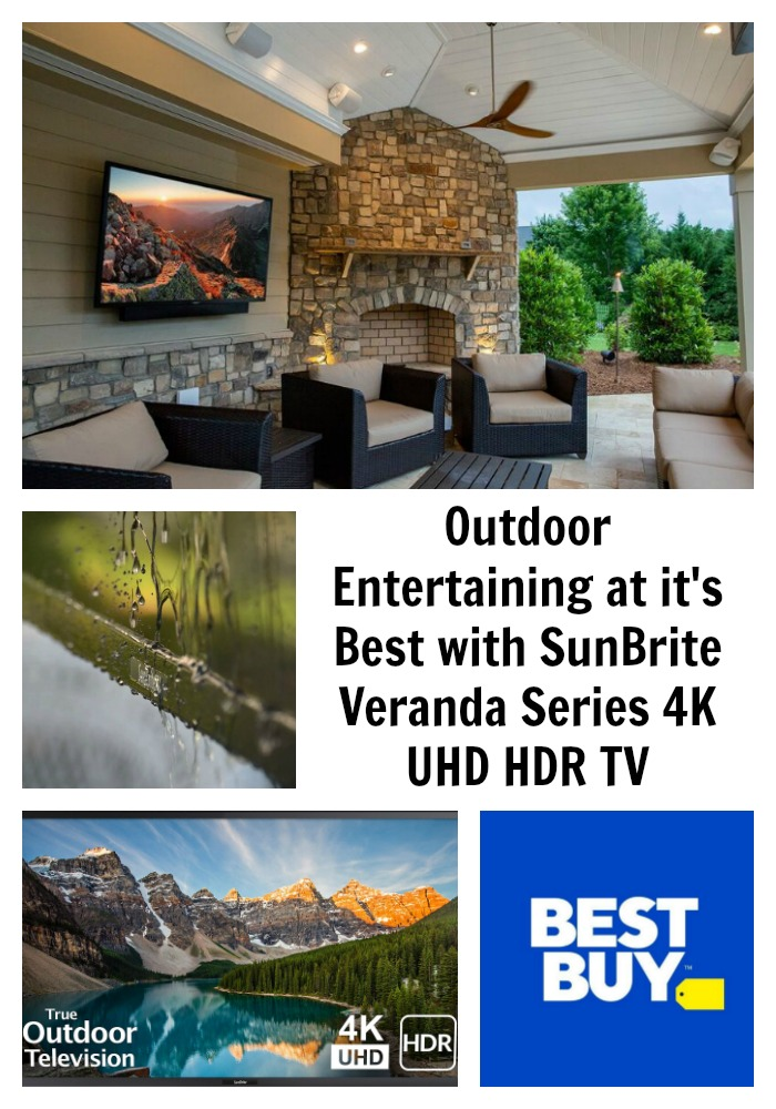 Outdoor Entertaining at it's Best with SunBrite Veranda Series 4K UHD HDR TV