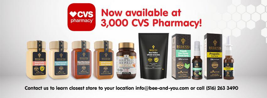 Bee & You Branded Honey, Royal Jelly and Propolis Products Now at CVS