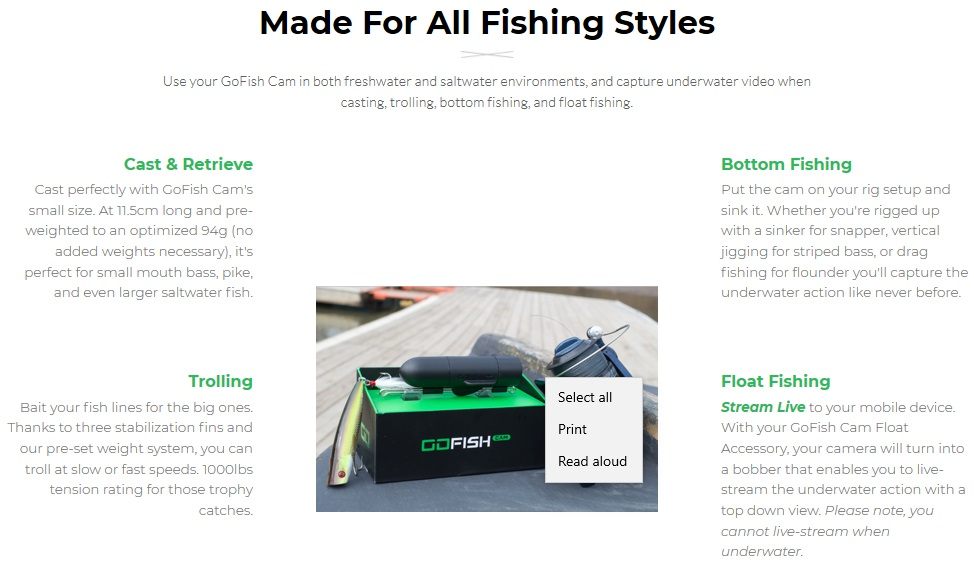 Take GoFish Cam on Your Next Fishing Expedition