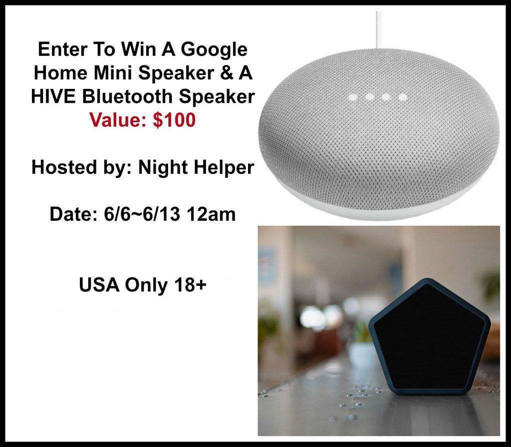 Google Home Mini Speaker Giveaway