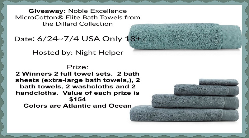 Noble Excellence MicroCotton® Elite Bath Towels Giveaway