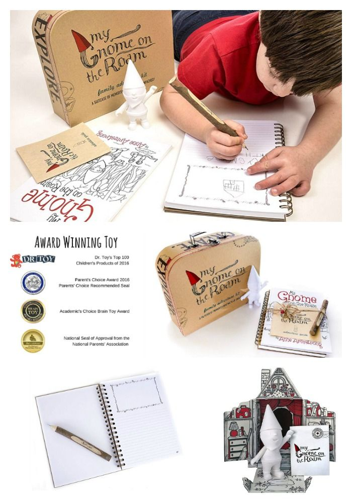 """My Gnome on the Roam"""" (Child Playing with Kit) - 2019 Back To School Gift Guide Page"""