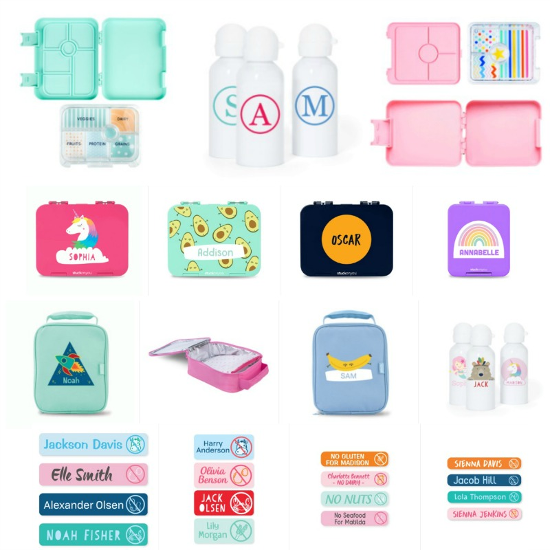 Colorful Bento Lunch Boxes and Cooler Bags from Stuck On You - 2019 Back To School Gift Guide Page