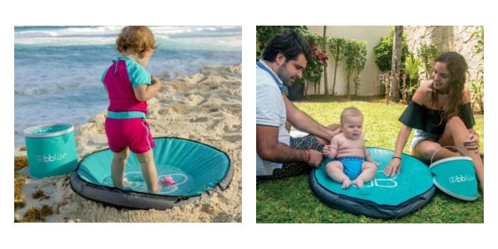 Toddler and Baby playing in the Spläsh – Baby paddling pool by bblüv