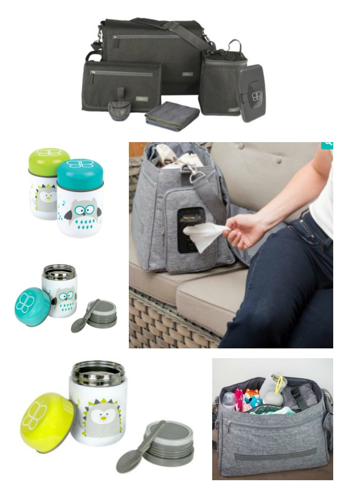 Diaper Bag and Thermal Food Container with Spoon