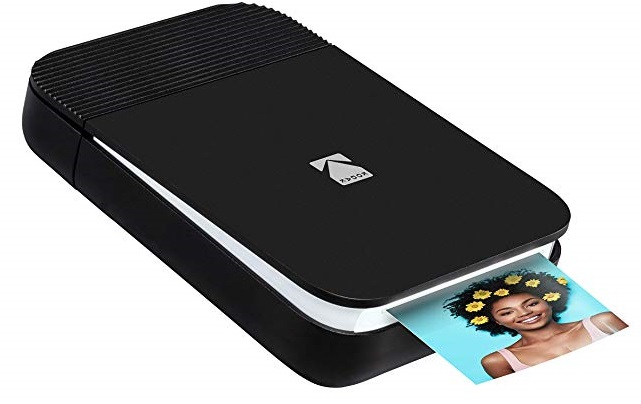 Kodak Smile Instant Digital Printer in Black/White - Capture Your Children's School Moments with the Polaroid and Kodak