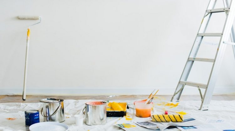 Painting Materials Scattered Inside a Room - Should You Buy a Renovation Property?