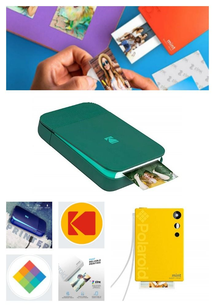 A collage of Polaroid and Kodak products - Capture Your Children's School Moments with the Polaroid and Kodak