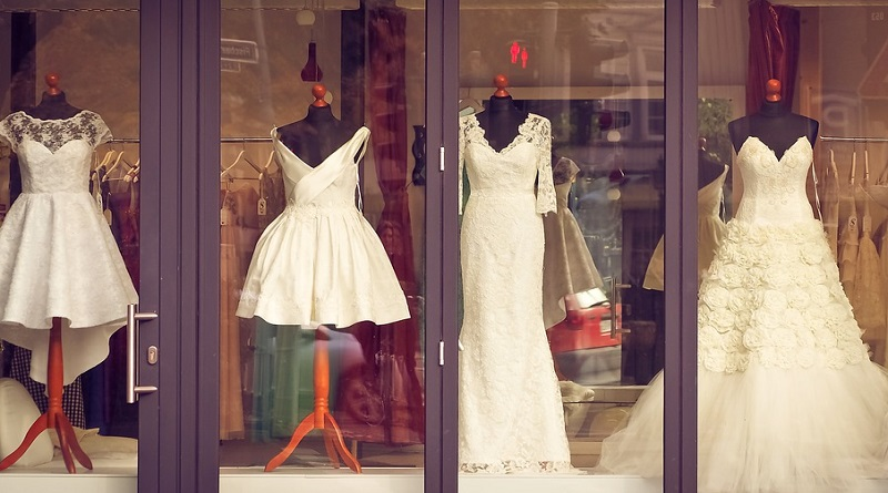 Wedding Dresses on Mannequins in store window - Wedding Dress Trends for Spring 2020