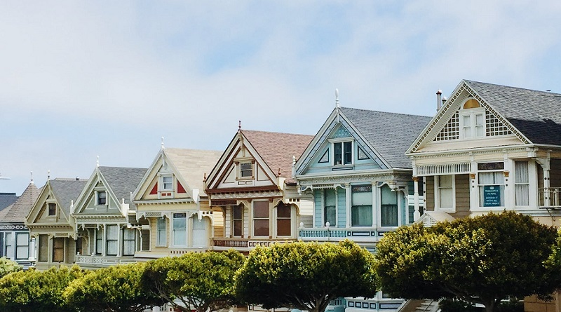 Row of Lovely Colorful Homes - Putting Up A Great Front: Giving Your Home Instant Curb Appeal