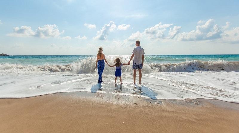 Family on the beach - Beach Vacation