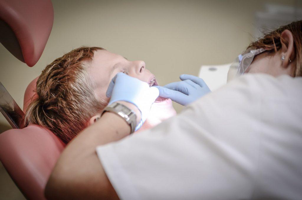 Patient having dental work - Smile