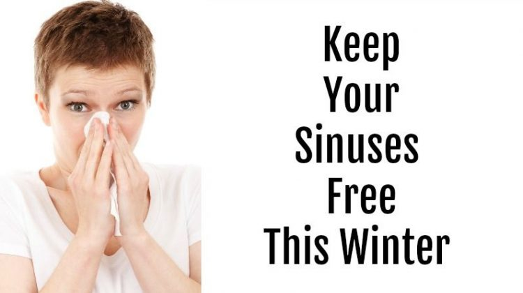 Women Blowing her Nose - Keep Your Sinuses Free This Winter