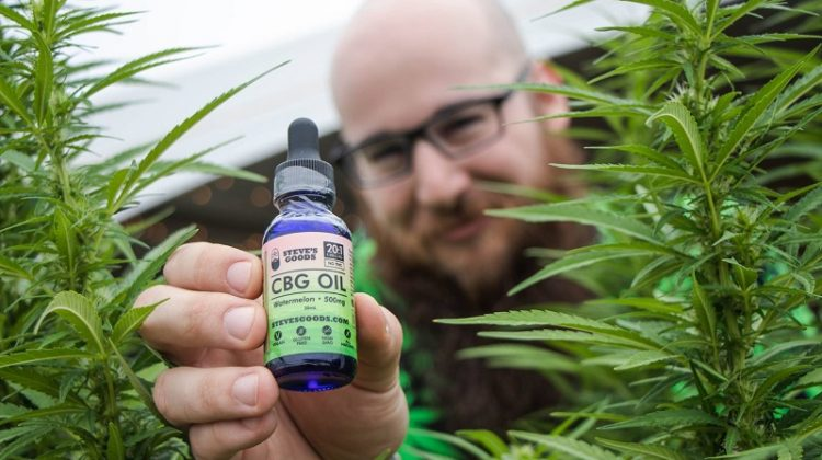 Steve holding a bottle of CBD Oil - Steve's Goods Aren't Just Good, They Are GREAT