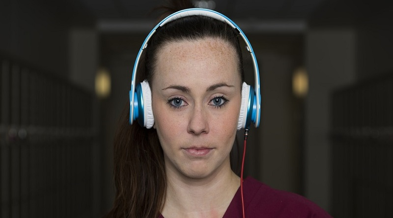 Student Nurse Wearing Headphones
