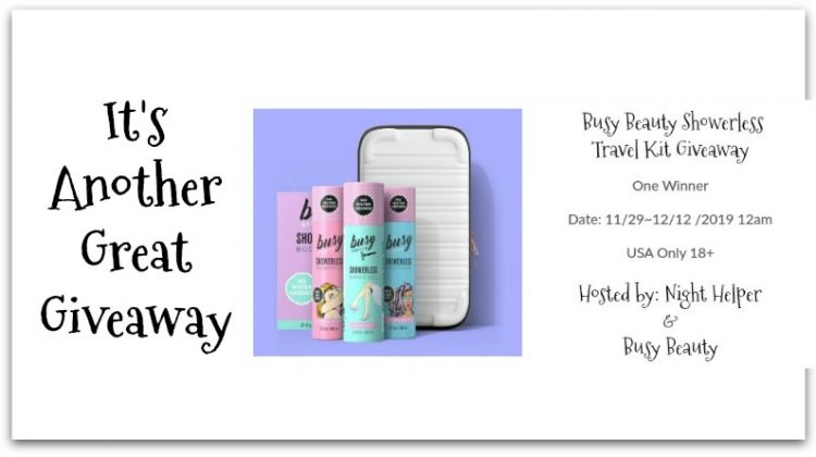 Busy Beauty Showerless Travel Kit Giveway