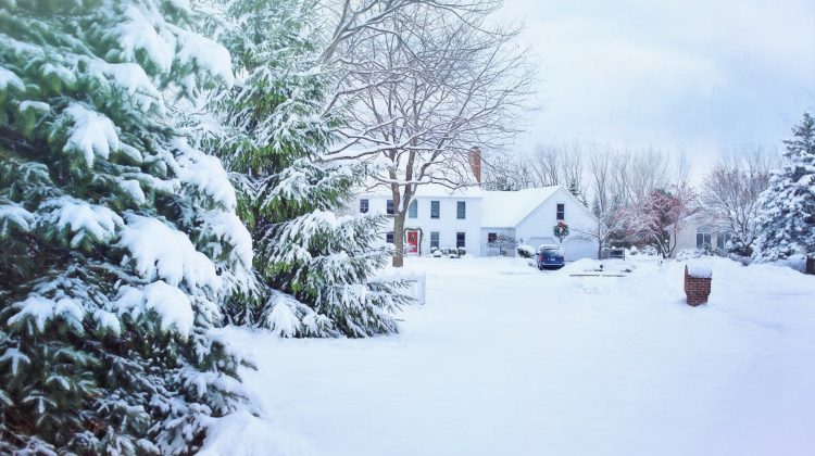 Home in Winter Snow - Exterior Of Your Home