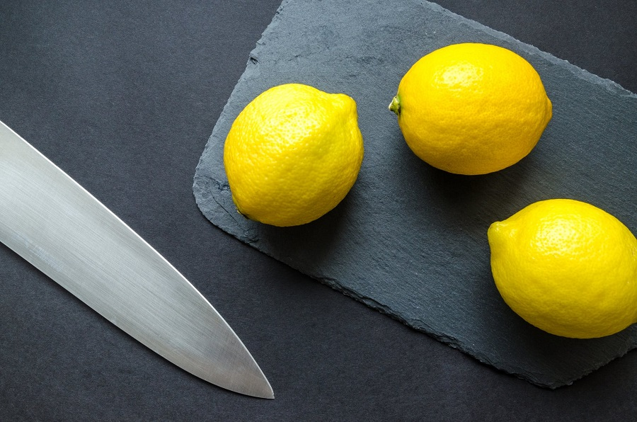 Lemons and Knife -Natural Ingredients For Cleaning