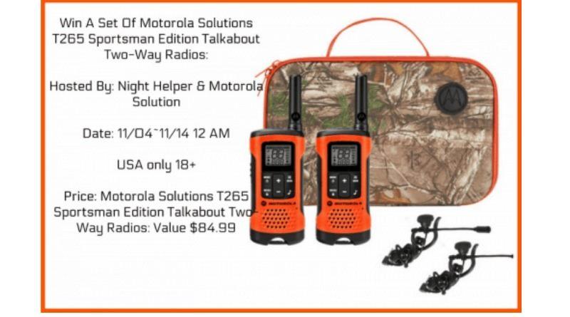 Motorola Solutions T2645 Giveaway