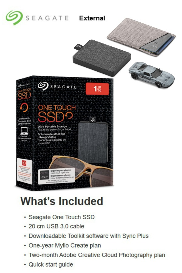 One Touch SSD by Seagate - 2019 Holiday Gift Guide Page - For the Tech Lover