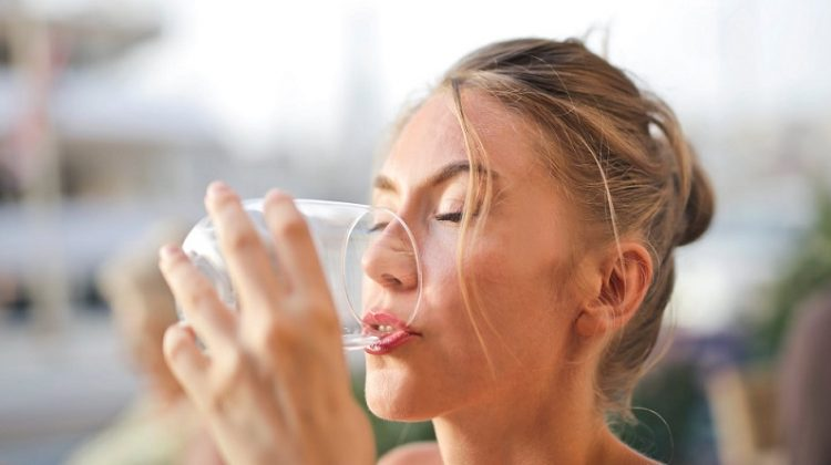 Woman Drinking Water - Love Your Natural Self